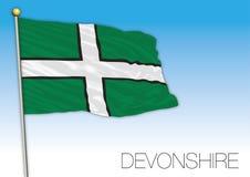Bandera de Devonshire, Reino Unido Fotos de archivo libres de regalías
