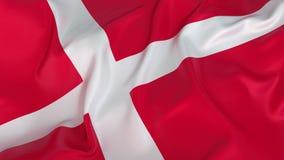 Bandera de Dinamarca Foto de archivo