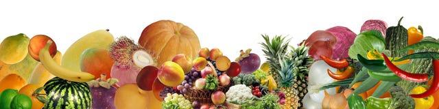 Bandera de diversas frutas y verduras fotos de archivo