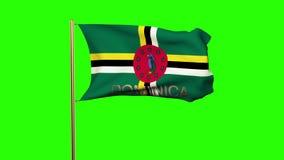 Bandera de Dominica con el título que agita en el viento libre illustration