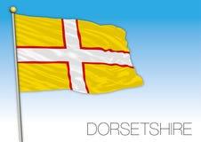 Bandera de Dorsetshire, Reino Unido Fotos de archivo