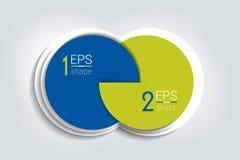 Bandera de dos elementos del negocio, plantilla 2 pasos diseñan, trazan, opción infographic, gradual del número, disposición ilustración del vector