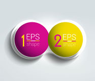 Bandera de dos elementos del negocio, plantilla 2 pasos diseñan, trazan, opción infographic, gradual del número, disposición Foto de archivo