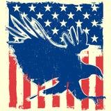 Bandera de Eagle Fotografía de archivo libre de regalías
