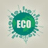 Bandera de Eco Imagen de archivo