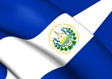 Bandera de El Salvador Imagenes de archivo