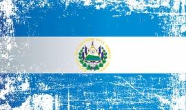 Bandera de El Salvador Puntos sucios arrugados ilustración del vector