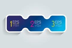 bandera de 3 elementos del negocio, plantilla 3 pasos diseñan, trazan, opción infographic, gradual del número, disposición Foto de archivo libre de regalías