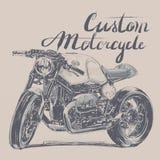 Bandera de encargo de la motocicleta Imagenes de archivo