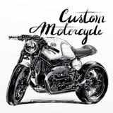 Bandera de encargo de la motocicleta fotografía de archivo