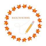Bandera de escuela del otoño Fotografía de archivo