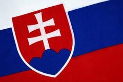 Bandera de Eslovaquia Fotografía de archivo libre de regalías
