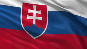 Bandera de Eslovaquia - lazo inconsútil libre illustration