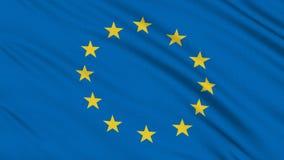 Bandera de Europa almacen de video
