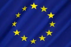 Bandera de Europa - unión europea Imagen de archivo libre de regalías