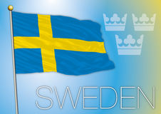 Bandera de Eweden Fotografía de archivo libre de regalías