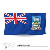 Bandera de Falkland Islands stock de ilustración