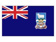 Bandera de Falkland Islands ilustración del vector