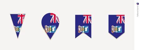 Bandera de Falkland Islands en el diseño vertical, ejemplo del vector libre illustration