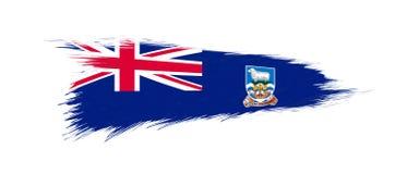 Bandera de Falkland Islands en movimiento del cepillo del grunge libre illustration