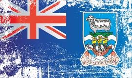 Bandera de Falkland Islands, territorios de ultramar británicos Puntos sucios arrugados libre illustration