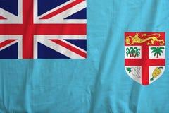 Bandera de Fiji con textura de la tela ilustración del vector