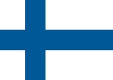 Bandera de Finlandia, bandera nacional de Finlandia Ejemplo plano del vector Imágenes de archivo libres de regalías