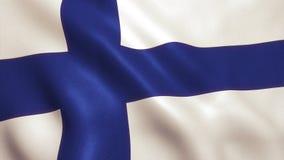 Bandera de Finlandia que agita - fondo de Alemania Imágenes de archivo libres de regalías