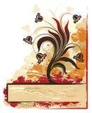 Bandera de flores. stock de ilustración