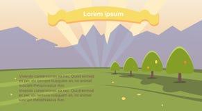 Bandera de Forest Sky Woods Copy Space de la montaña del paisaje del verano Fotos de archivo