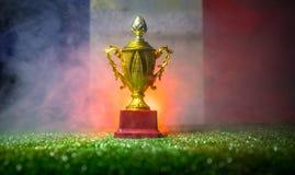 Bandera de Francia, campeón de oro \ 'taza de s en hierba Deporte del concepto Foto de archivo