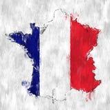 Bandera de Francia con textura de la pared del Grunge ilustración del vector