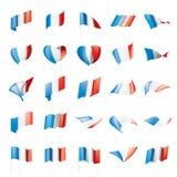 Bandera de Francia, ejemplo del vector Imagen de archivo libre de regalías
