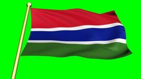 Bandera de Gambia, África metrajes