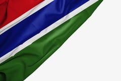Bandera de Gambia de la tela con el copyspace para su texto en el fondo blanco ilustración del vector
