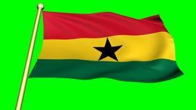 Bandera de Ghana, África almacen de video