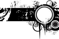 Bandera de Grunge con el elemento floral libre illustration