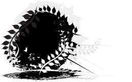 Bandera de Grunge con la hoja libre illustration