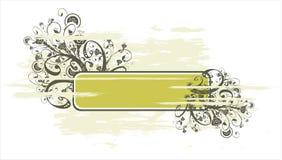 Bandera de Grunge y ornamento floral