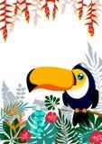 Bandera de hojas de palma tropicales Imagen de archivo libre de regalías