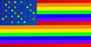 Bandera de homosexuales bajo la forma de bandera americana libre illustration