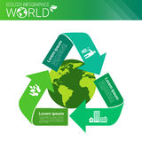 Bandera de Infographics de la ecología de la energía del verde de la protección del medio ambiente del mundo con el espacio de la Fotografía de archivo libre de regalías