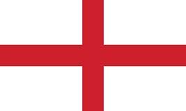 Bandera de Inglaterra, ejemplo del vector Fotos de archivo