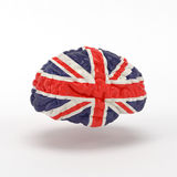 Bandera de Inglaterra en cerebro humano Imagenes de archivo