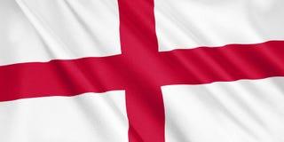 Bandera de Inglaterra que agita con el viento stock de ilustración