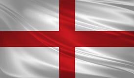Bandera de Inglaterra que sopla en el viento Textura del fondo 3d representación, onda libre illustration
