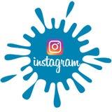 Bandera de Instagram foto de archivo libre de regalías