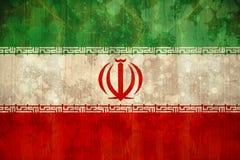 Bandera de Irán en efecto del grunge Fotografía de archivo