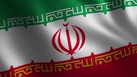 Bandera de Irán que agita 3d abstraiga el fondo Animación del lazo