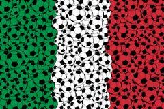 Bandera de Italia, consistiendo en bolas del fútbol ilustración del vector